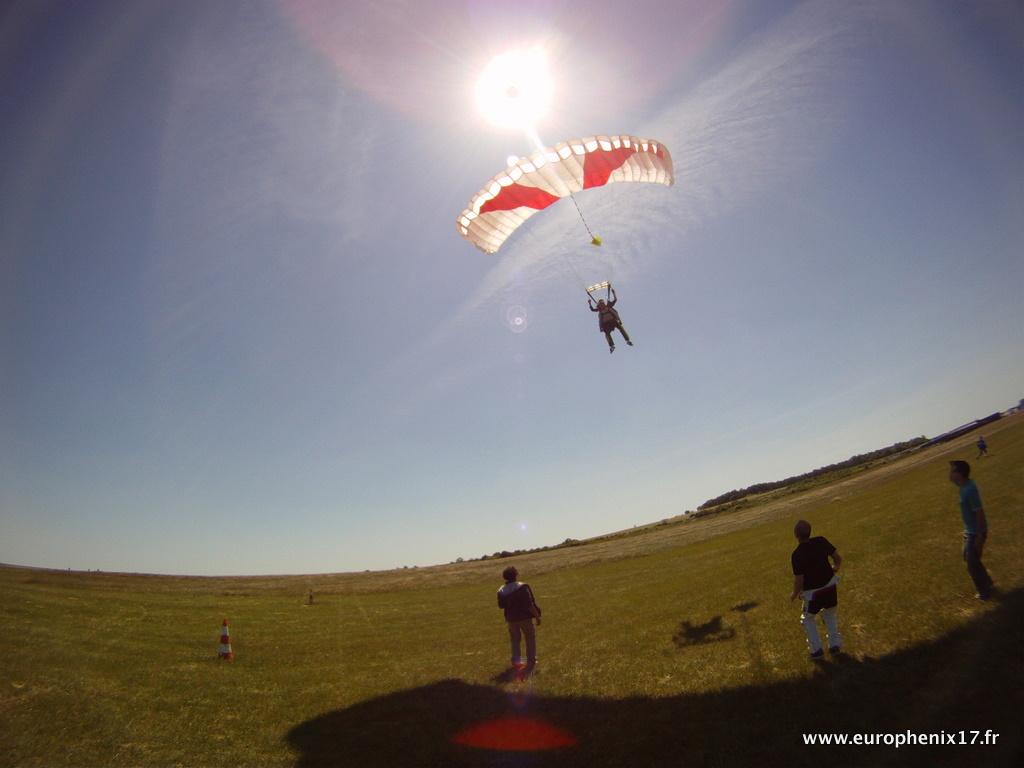 Atterrissage saut en tandem Europhenix 17