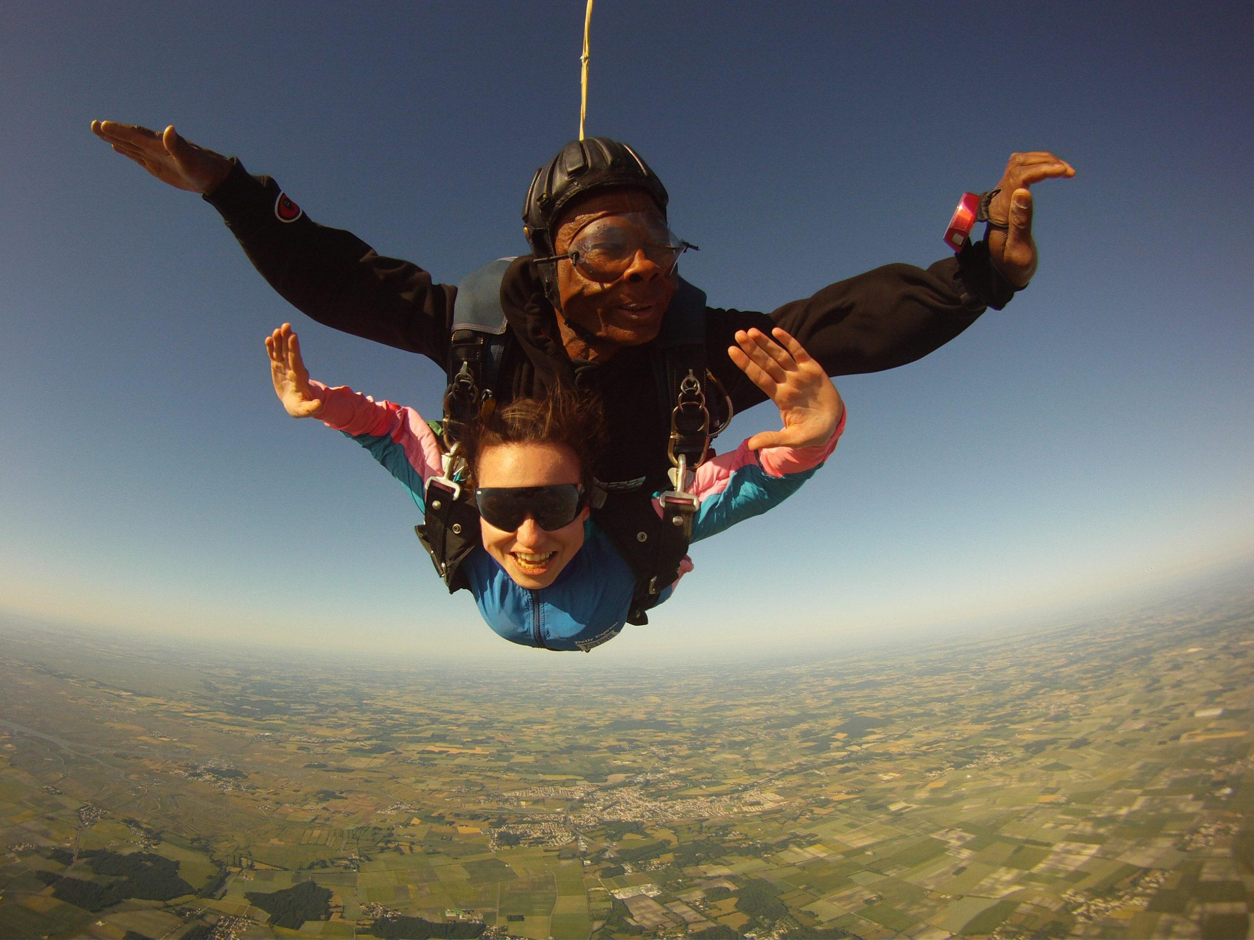 free-fall tandem skydive