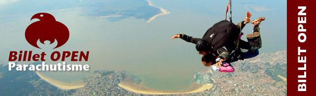 Offrez un cadeau inoubliable - Billet Open saut en parachute