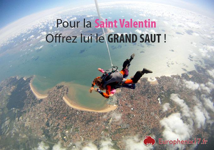 saut en parachute Saint Valentin 2014