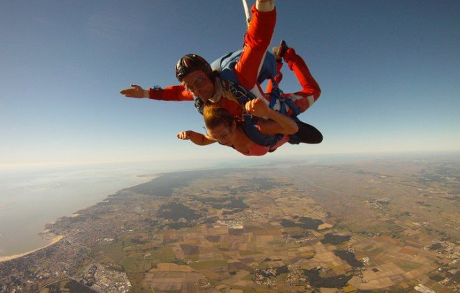 sauter en chute libre à Royan