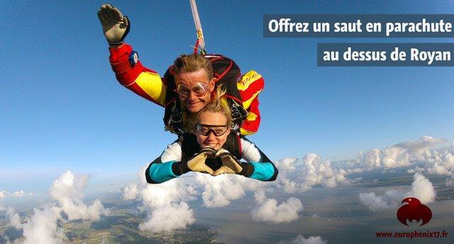 bon cadeau saut en parachute