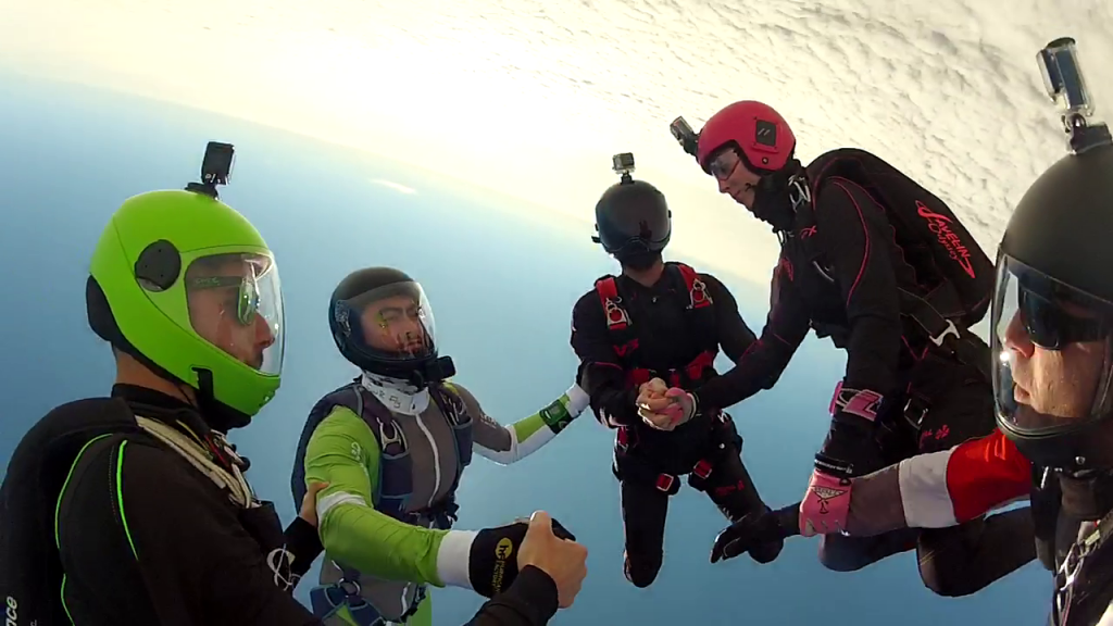 Animation freefly skydive Royan