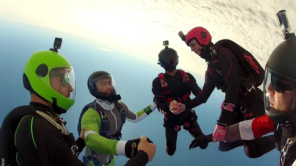 Animation freefly skydive Royan