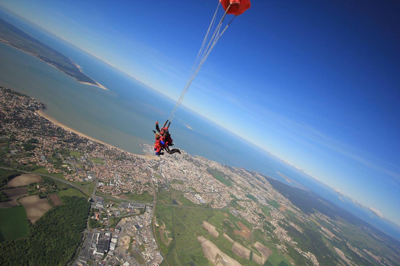 bapteme chute libre parachutisme Royan