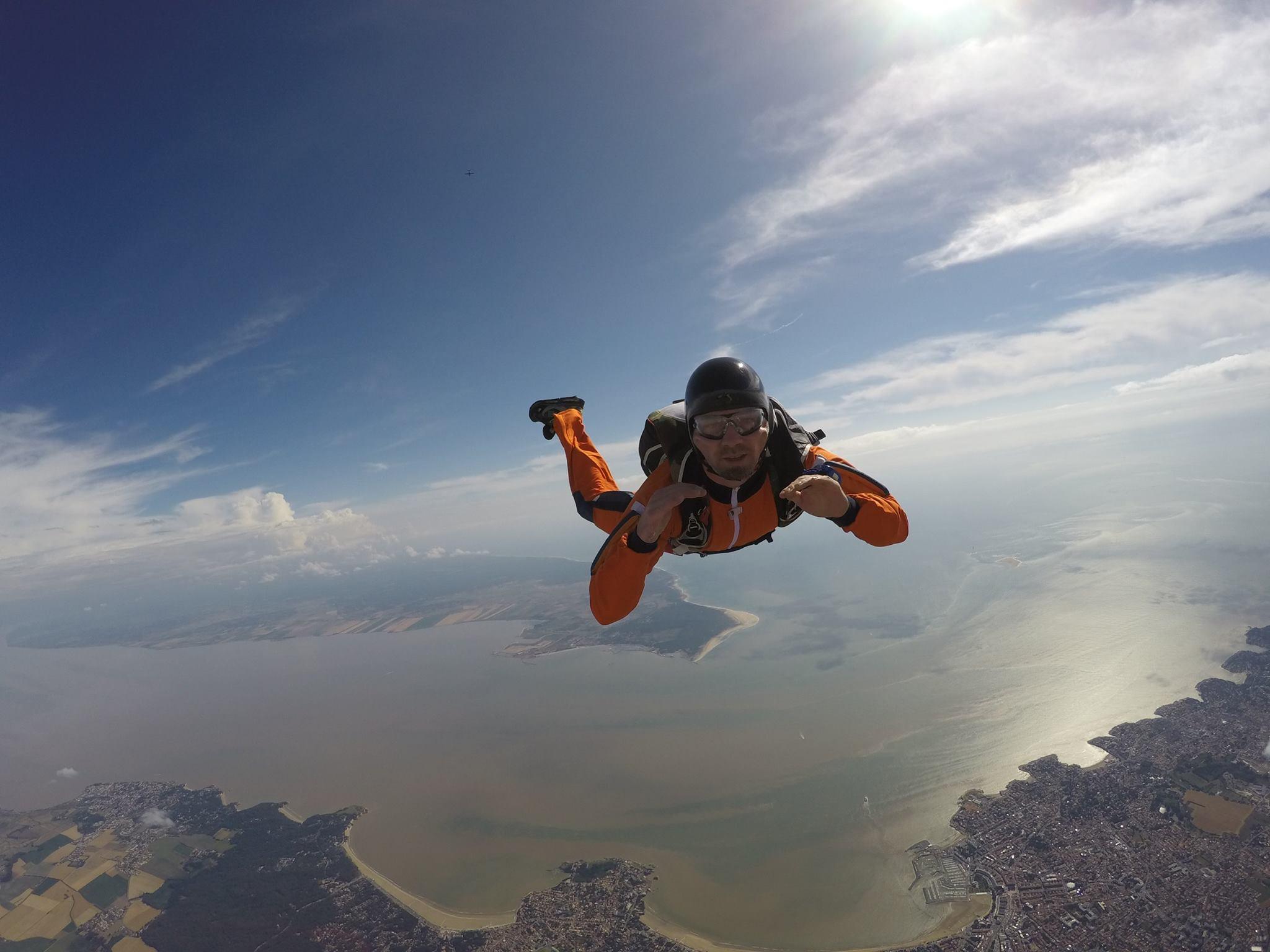 Saut en parachute à Royan 2