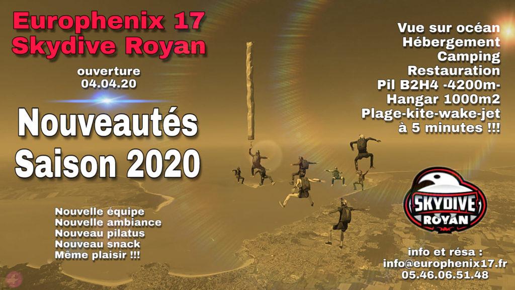 Saison 2020 parachutisme